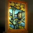 """Strange Kingdom"":, stained glass light-box."