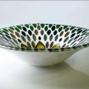 """Seedhead"", Majolica-style glass bowl"