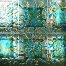 Fused glass screen