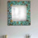 Mirror with Tiffany Glass Border