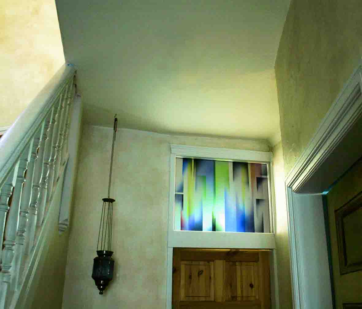 Laminated panel with enamels,  (Private Residence)