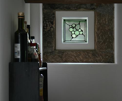 Opalescent Glass Window Panel