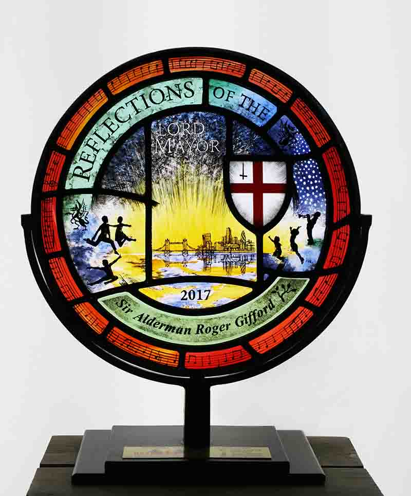 Commemorative Stained Glass Roundel