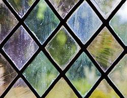 Diamond-Leaded Window Panel