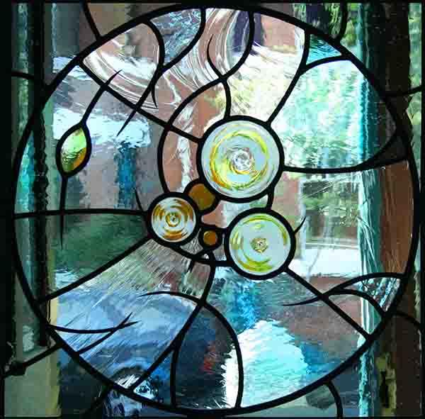 Mouthblown glass Roundel Window