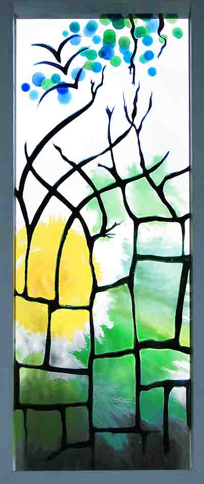 """Organic Architecture"" : Decorative window panel"