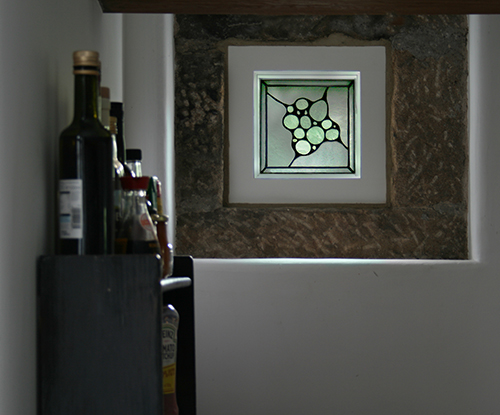 Opalescent Glass Window Panel